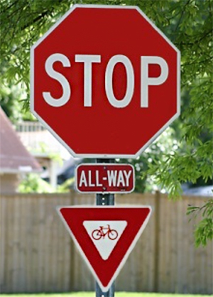 idaho stop sign allowing bicycles to yield